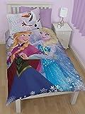 Disney Frozen Crystal Reversible Panel Design Single Duvet Cover With Pillowcase Set