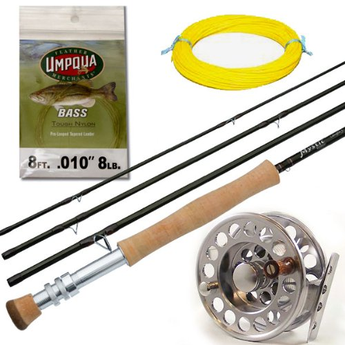 Deluxe 9' 7 Weight Bass Fly Fishing Outfit: Mystic Rod, M-60 Fly Reel and Bass Taper Fly Line