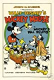 Mickey Mouse Mickey's Pal Pluto Movie Poster Vintage