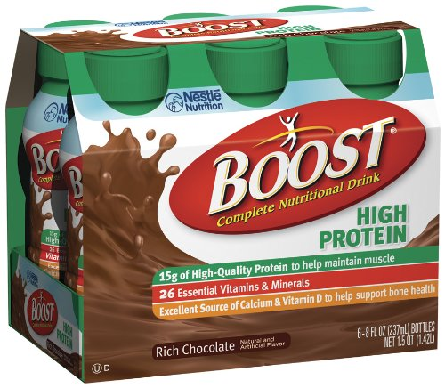 Boost High Protein Nutritional Energy Drink, Chocolate, 8 Ounce Bottle (Pack Of 24) front-671818