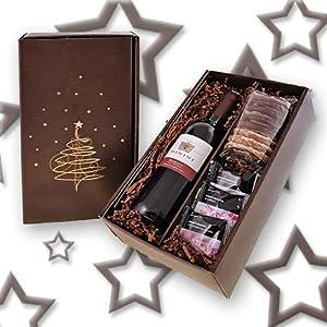 Weihnachtspräsent 'Merlot und Lebkuchen' Ein traumhafter Genuss zum Fest! Italienischer Rotwein ...