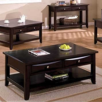 Coffee Table in Cappuccino Finish by Furniture of America