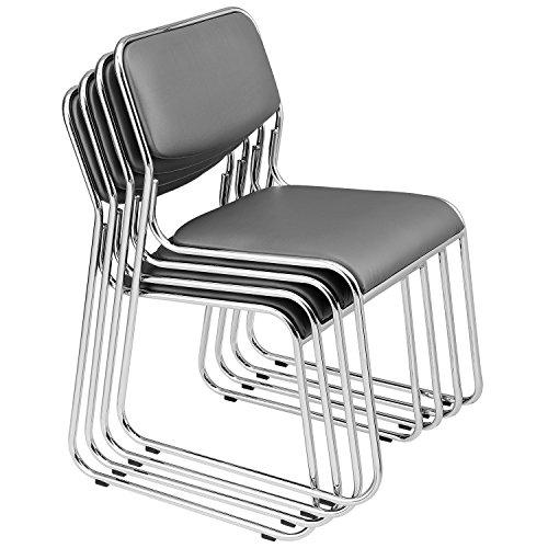 protec-4-sedie-visitatori-Pacchetto-risparmio-Sedia-per-conferenze-Sedia-Sedia-per-ufficio-Sedia-Sedia-per-sala-dattesa