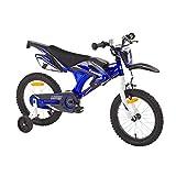 Kinderfahrrad Kawasaki Kids Bike Moto 16 Zoll mit Rücktrittbremse Farbe:Blau