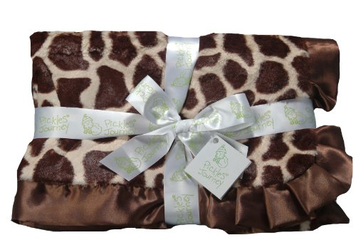 "Pickles 30X40"" Journey Fleece Baby Blanket, Giraffe"