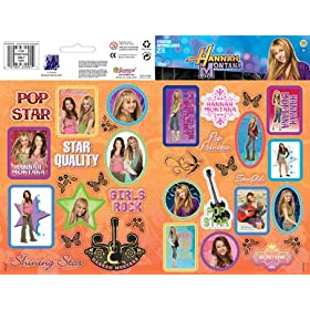 Hannah Montana Sticker Large Two-Sheet Pack 2