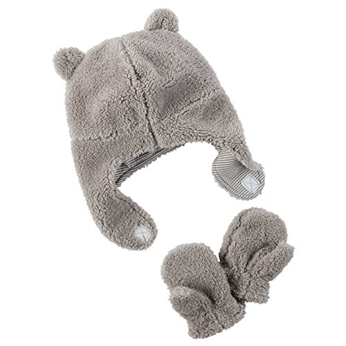 Carter's Baby Boys Winter Hat-glove Sets D08g188, Grey, 12-24M