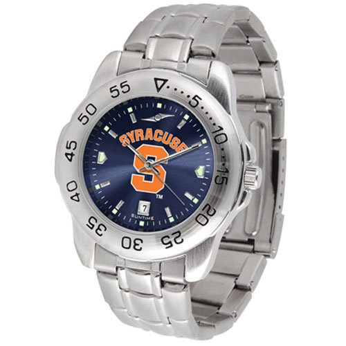 Suntime Syracuse Orangemen Ncaa Anochrome Sport Mens Watch Metal Band