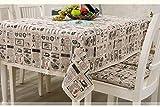 Tmalltide 24x24-Inch Linen& Cotton Rectangular Shabby Chic Dinner Summer & Picnic Tablecloth(scissors)