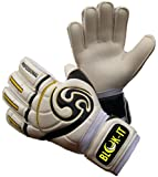 Goalkeeper Gloves By Blok-IT - High Quality Goalie Gloves to Help You Make the Toughest Saves - Secure and Comfortable Fit With Extra Padding to Reduce the Chance of Injury
