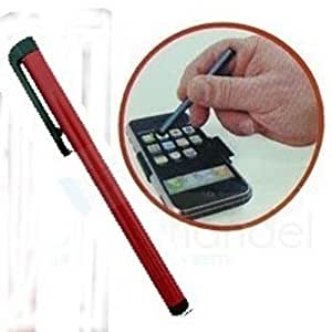 BestBuy-24 Stylus Stift Pen Eingabestift für touchscreen smartphone, tablet pc, iPhone, iPad, rot metallic / dunkelrot