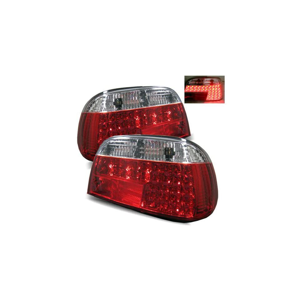 95 01 BMW E38 7 Series Red/Clear LED Tail Lights