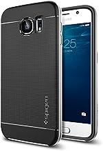 Galaxy S6 Case, Spigen [METALLIZED BUTTONS] Neo Hybrid Series Case for Samsung Galaxy S6 [BUMPER STYLE CASE] - Retail Packaging - Satin Silver (SGP11320)