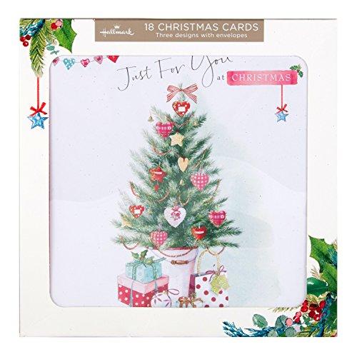 hallmark-tarjeta-de-felicitacion-tarjeta-de-navidad-pack-just-for-you-18-tarjetas-3-disenos