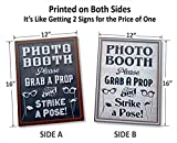 Bigtime-Designs-Photo-Booth-Props-Sign-2-Sided-Use-for-any-Wedding-Party-or-Event-Chalkboard-Style-on-1-Side-and-a-Rustic-Vintage-Look-on-the-2nd-16-L-x-12-W