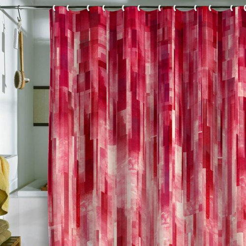 ... Jacqueline Maldonado Red Rain Shower Curtain, 69 by72-Inch For sale