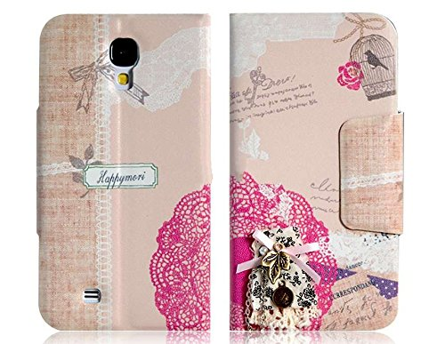 Dress Faux Leather Flip Protective Case For Samsung Galaxy S4/I9500Ysk
