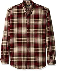 Arrow Men's Big and Tall Long Sleeve Plaid Flannel Shirt, Chocolate Truffle, 4X