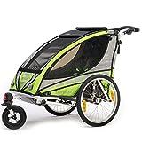 Qeridoo Q3000A-Grün Sportrex 1 Kinder-Fahrradanhänger thumbnail