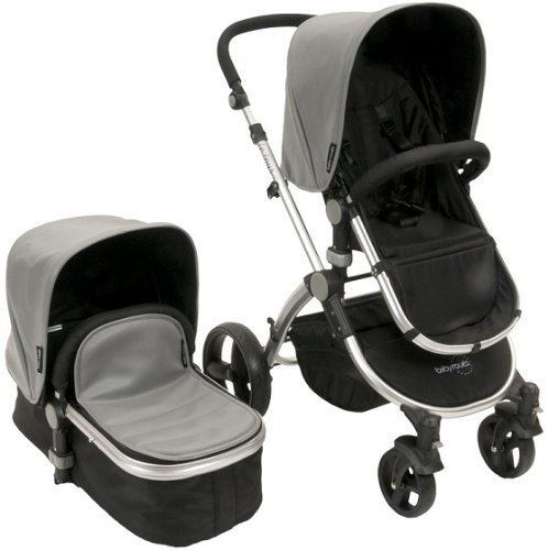 Baby-Roues-LeTour-Lux-II-GRAY-Lightweightt-Compact-Stroller-w-Bassinet