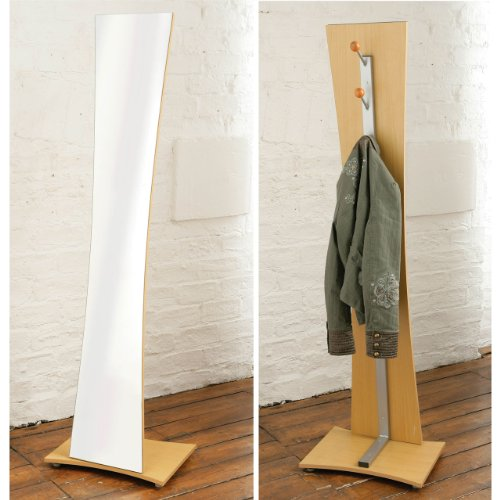 Floor Standing Mirror with Coat Hooks