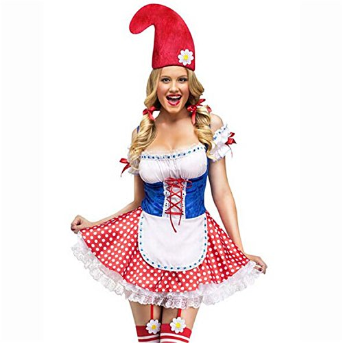 Sexy4Lady Women's Hot Sale Sexy Garden Gnome Costume