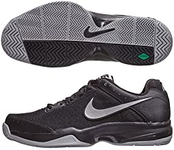 Nike Men39s Air Cage Court BlackBlackMetallic Silver 14 D - Medium