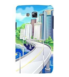 printtech City Building Road Back Case Cover for Samsung Galaxy Core i8262 / Samsung Galaxy Core i8260