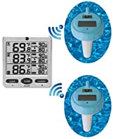 Ambient Weather WS-19 Wireless 8-Channel Floating Pool and Spa Thermometer with Two Remote Sensors from Ambient Weather