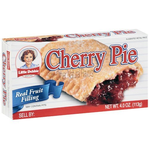 Little Debbie Cherry Fruit Pies 4 oz Individually Packaged (6 Pack)