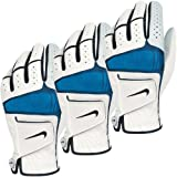 Nike Golf Men's Tech Xtreme IV Golf Glove - LH (3 Pack) - White/Black-Soar - S