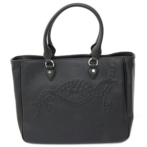 LIU JO CORALLO SHOPPING BAG N66226E0140-22222 Black
