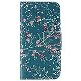 OMATENTI Smasung Galaxy S6 Edge ケース, 高級PUレザー ケース 手帳型 保護ケース カード収納ホルダー付き 横置きスタンド機能付き マグネット式 スマホケース [強化