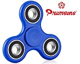 #9: Fidget Spinner 608 Four Bearing Guarantee 2 min + Spin Time ! Premium Quality ABS Material Hand Spinner Tri-Spinner Ultra Speed Toy - Dark Blue + Black