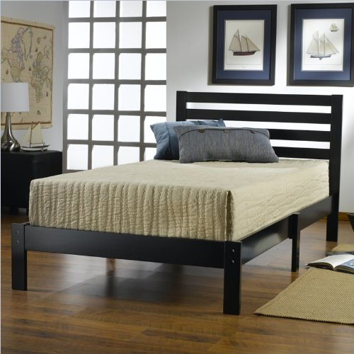 Aiden Twin Bed Set Black front-972367