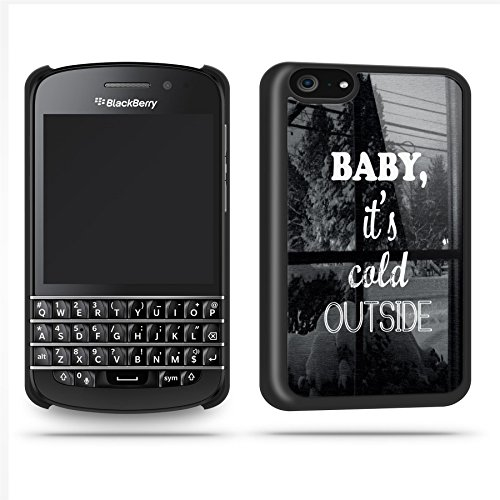 Baby Its Cold Outside Quote Winter Cool Retro Phone Case Shell For Blackberry Q10 - Black