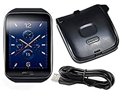 Galaxy Gear S Charger, Efanr® Black High-quality Replacement Charger Charging Cradle Dock + Micro USB Cable Cor for Samsung Galaxy Gear S SM-R750 R750 Smart Watch