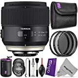 Tamron SP 35mm F 1.8 Di VC USD for CANON DSLR Cameras w Essential Photo and Travel Bundle