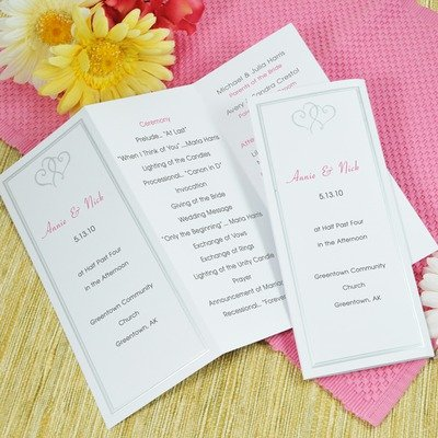 trifold wedding program examples contemporary program wording