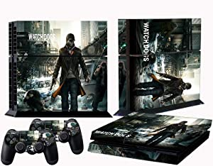PS4 skins watch dogs vinyl decal cover for Sony playstation 4 console