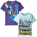 Kidsville Boys' T-Shirt (MC1KB04_Multi_9 - 10 years) Combo Tee