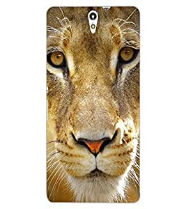 ColourCraft Lion Look Design Back Case Cover for SONY XPERIA C5 ULTRA DUAL