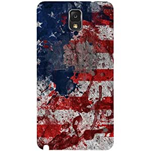 Casotec Painting American Design Hard Back Case Cover for Samsung Galaxy Note 3 N9000