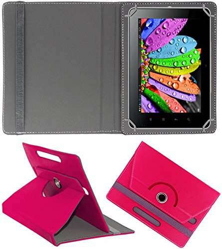 DMP 360 Degree Rotating Leather Flip Case Book Cover With Stand For HP Omni 10 Tablet - Dark Pink  available at amazon for Rs.269