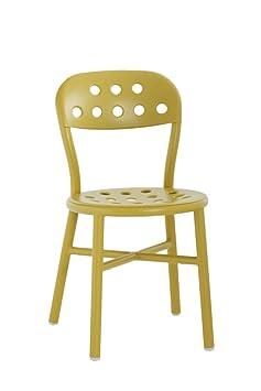 Magis Pipe Chair, Metal, Mustard, 2-Piece