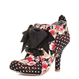 Irregular Choice Abigails Party Black Floral Boots SIZE 8