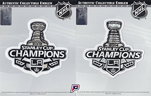 2012 & 2014 NHL Stanley Cup Final Champions L.A. Los Angeles Kings Patch Combo (2014 Stanley Cup Champions Patch compare prices)