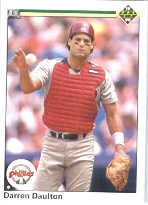 1990 Upper Deck # 418 Darren Daulton Philadelphia Phillies - MLB Baseball Trading Card