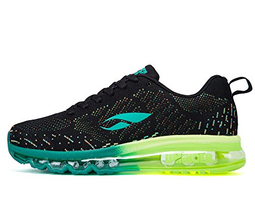 Uminder Men's Air Running Shoes 2016 Max Flyknit Sport Road Walking Fashion Sneaker Black Green (Tenis Air Max compare prices)