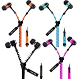 Zipper Earphones/Hands Free With Mic *Stylish Design* For All Mobiles- Computers & Laptops